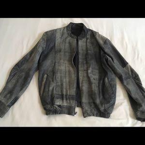 LEATHER vintage Distressed Suede Jacket